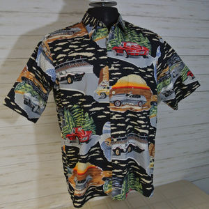 REYN SPOONER Sz Medium Men Hawaiian Corvette Shirt